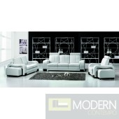 Divani Casa 3339 - Modern Bonded Leather Sofa Set