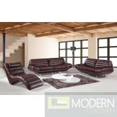 Divani Casa Boco - Modern Espresso Leather Sofa Set