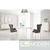 Varese  - Modern Solid wood White Lacquered Dining Table