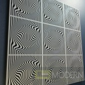 TexturedSurface 3d wall panel TSG75