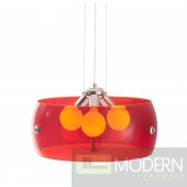 Asteroids Ceiling Lamp Red
