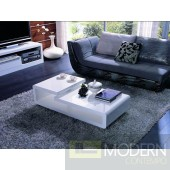 Modrest 5011C - Modern White Lacquer Coffee Table