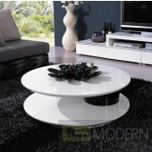Modrest 5019 - Modern White and Black Coffee Table