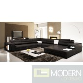 Divani Casa Polaris - Contemporary Bonded Leather Sectional Sofa