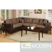 Saddle Microfiber Bonded Leather Reversible Sectional MCGSL7632 Free 24 to 72 hours inside delivery