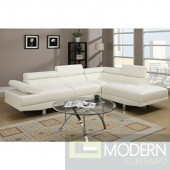2 Piece White Faux Leather Sectional Reversible Sectional MCGSL3098 Free 24 to 72 hours inside delivery