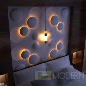 TEXTURED SURFACE CUSTOM 3D WALL SURFACE  PANEL-Headboard 4
