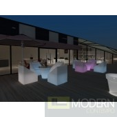 Modern LED 5 Piece Outdoor Lounge Set