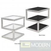 5S Clear Glass Side Table