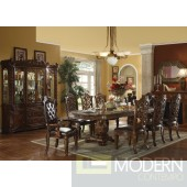 Dark Cherry Finish Vendome Formal Dining Room Table w/Options