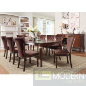AC60020 Brown Cherry Finish Transitional Kingston Round Dining Table
