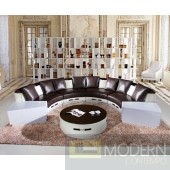 6006 - Modern Bonded Leather Sofa