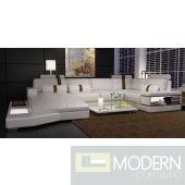 6104 - Modern Bonded Leather Sectional Sofa