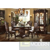 62010 Vendome Round Dining Table in Cherry by Acme w/Options