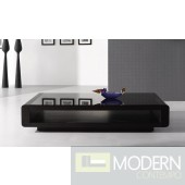 Modrest Lignite - Modern Black Oak Coffee Table
