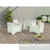 Modern LED 5 Piece Patio Lounge Set