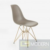 CINDY Molded Plastic Chair with Gold Legs