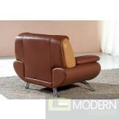 7040 Modern light brown/dark brown living room furniture