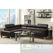 2Pc Espresso Bonded  Leather sectional MCGSL7299. Free 24 to 72 hours Inside delivery