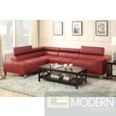 2Pc Burgundy Leather sectional MCGSL7300. Free 24 to 72 hours Inside delivery