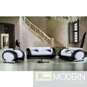 Divani Casa 7391 - Modern Bonded Leather Sofa Set