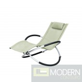 Renava Largo - Modern Beige Metal Lounging Chair