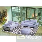 Divani Casa 8008 - Modern Bonded Leather Sectional Sofa