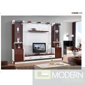 Contemporary Modern wall unit entertainment center MCSS8030