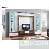 Contemporary Modern wall unit entertainment center MCSS8032