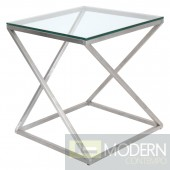 4Z Clear Glass Side Table