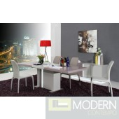 Modrest Vertigo - Modern Grey LED Lit Dining Table