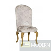 Regency Style Light Grey Fabric Dining Chair