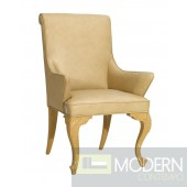 Regency Style Leather Dining Armchair