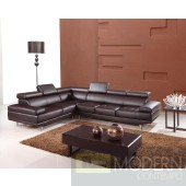 Divani Casa 9054 - Modern Bonded Leather Sectional Sofa