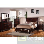 Modern Bedroom in Cherry with Storage w/Options  MCGSB9190 Free Inside Delivery for DMV metro area.