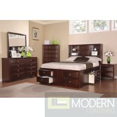 Modern Bedroom in Cherry with Storage w/Options  MCGSB9234 Free Inside Delivery for DMV metro area.