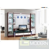 Contemporary Modern wall unit entertainment center MCSS943