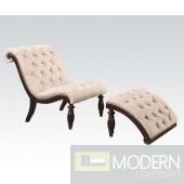 Keira Chair & Ottoman Beige