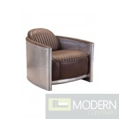 Fate Occasional Chair Brown Aluminum