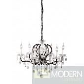 Gypsum Ceiling Lamp Rust Black & Crystal