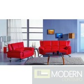 Divani Casa 9908 - Modern Bonded Leather Sofa Set