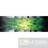 Modrest ADC7141 - Modern Green Oil Painting