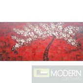 Modrest ADC7148 - Modern Red Oil Painting