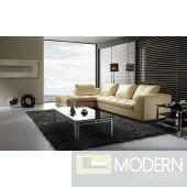BO3959 Modern beige leather sectional sofa