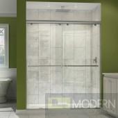 """Charisma Frameless Bypass Sliding Shower Door and SlimLine 32"""" by 60"""" Single Threshold Shower Base Center Drain"""