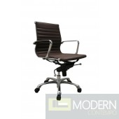 Comfy Low Back Brown Office Chair