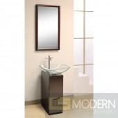 """Modern 10"""" Bathroom Vanity, Mirror and Sink. Full Bathroom Vanity Set"""