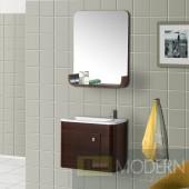 Wall-Mounted Modern Bathroom Vanity - w/Sink and Mirror. Complete Bath Vanity Set.