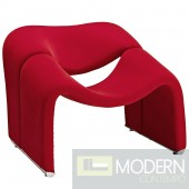 Cusp Lounge Chair Red