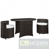Katonti 3 Piece Outdoor Patio Dining Set